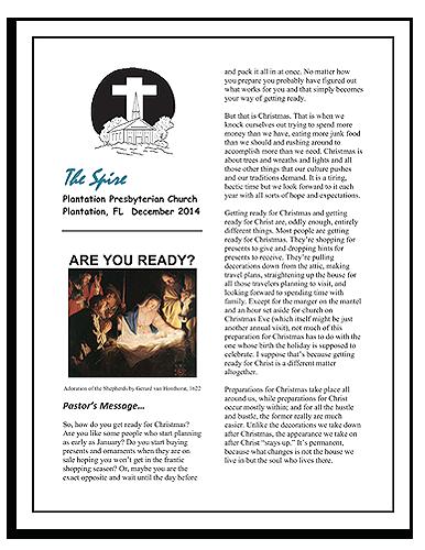 The Spire-Plantation Presbyterian Church newsletter
